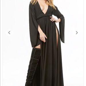 Black Plunging neckline dress